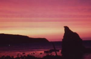 Sunset that lights up Akaiwa red