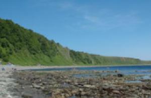 View toward Cape Shiretoko from Akaiwa
