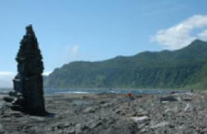 Akaiwa district seen from Rosoku Iwa (candle rock)