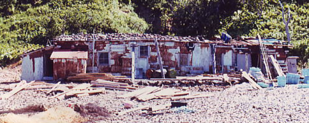 The oldest kelp lodge (banya) in Shiretoko, which should be preserved as an industrial heritage.